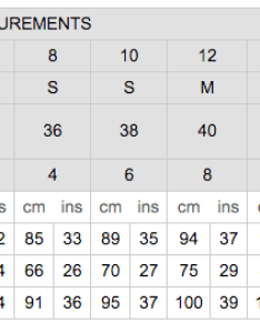 We checked and womens clothes sizes at   zara topshop are also size chart gungoz  eye rh