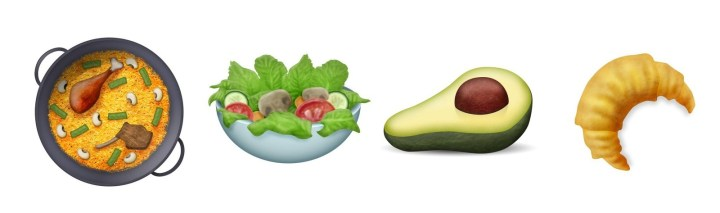 There also new food items! Behold, a paella, salad, avocado, and croissant.