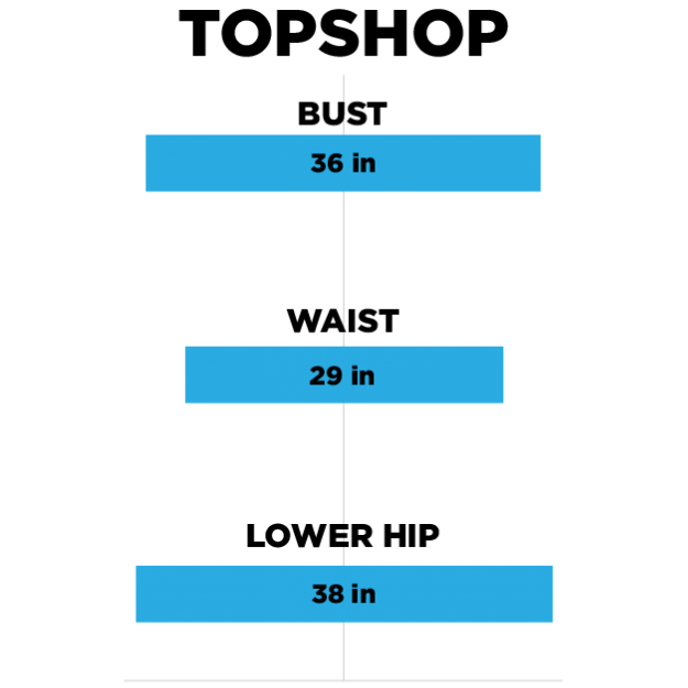 Topshoph  mzaraurban outfittersasosnew lookboohoo also we checked and women  clothes sizes at   zara topshop are rh buzzfeed