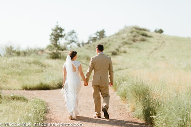 The Bensons were taking post-ceremony photos at the Horsetooth Reservoir in Fort Collins, Colorado, on June 20, when a RATTLESNAKE decided to have a little snack.