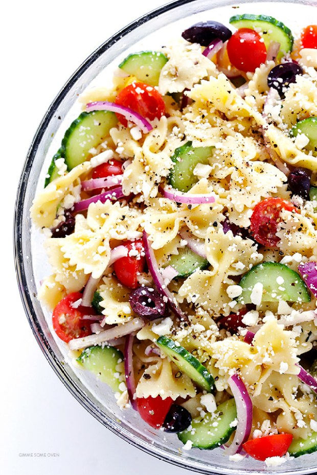 If you want to stretch your fresh veggies a little further, pad out your vegetables with whole wheat bowtie pasta.