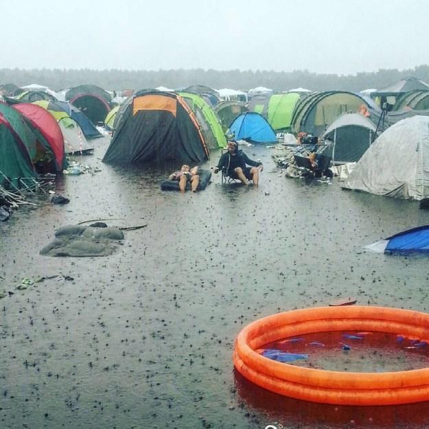 Camping auf deutschen Festivals: