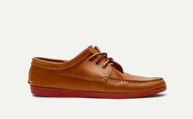 A pair of made-to-order leather bluchers, $275