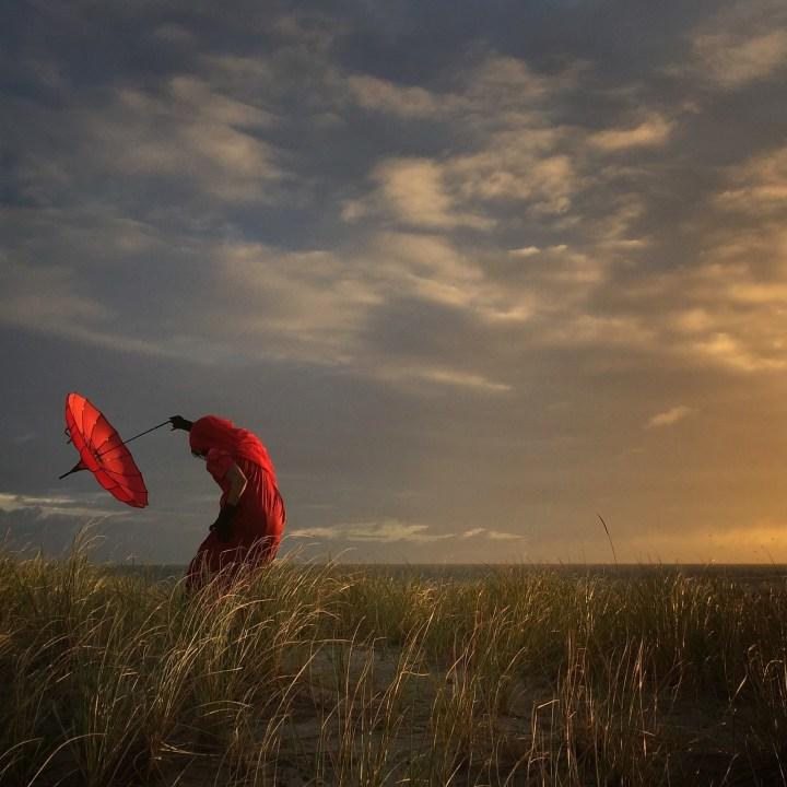 """""""Ella se dobla con el viento"""", Robin Robertis de California, Estados Unidos"""