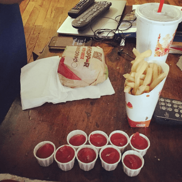 Eating fries with your ketchup: