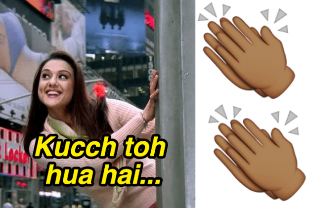 "Clapping twice on instinct if anybody ever sings the first few words of the ""Kucch Toh Hua Hai"" hook."