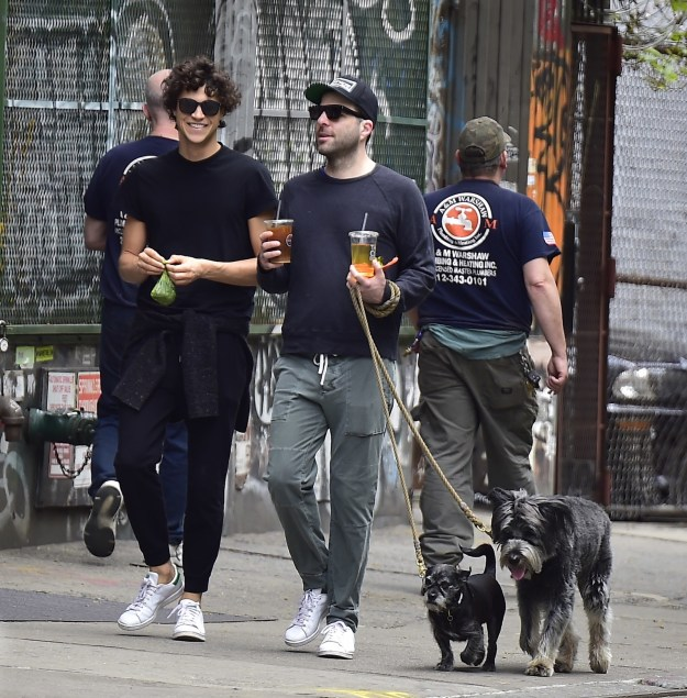When Zach carried both drinks while Miles scooped up the dog poop.
