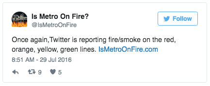 The same day, there were multiple reports of stations filled with smoke, including one where passengers were evacuated.