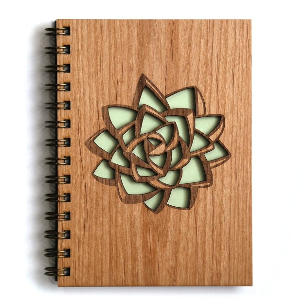 Plus a handcrafted wooden journal to fill with love letters to those succulents.
