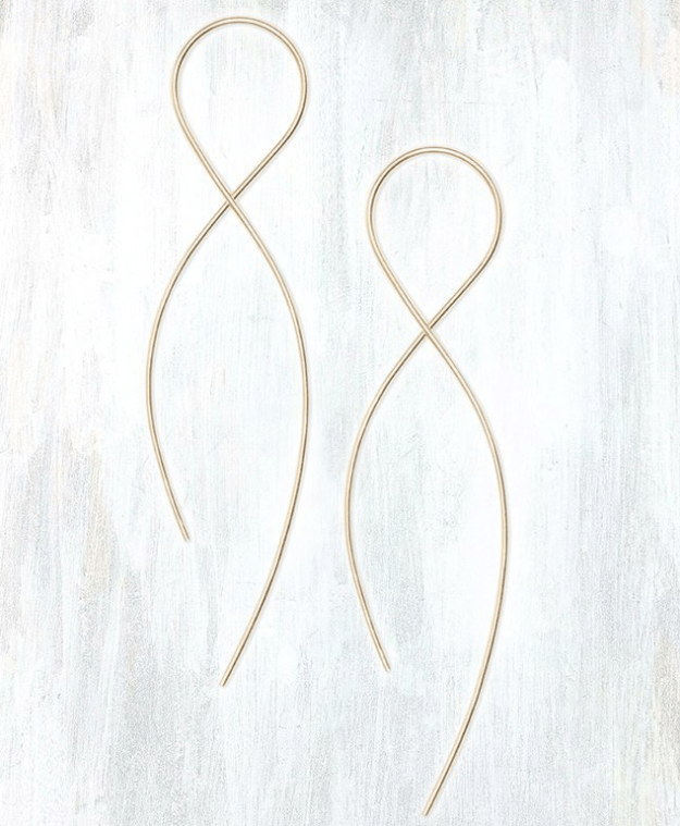 Delicate earrings that you'll love to infinity and beyond.