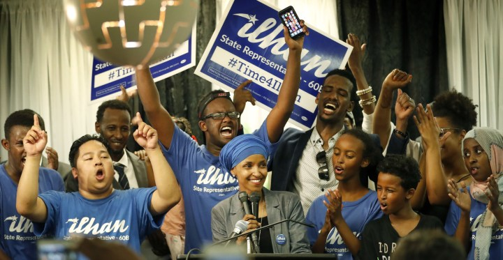 Minnesota is poised to elect the first Somali-American to hold statewide elected office anywhere in the nation come November after a community activist upset a 44-year incumbent in a primary on Tuesday.