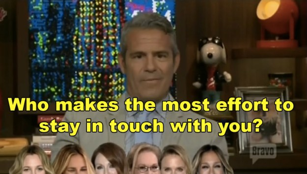 Host Andy Cohen always likes to play fun games with guests, so he decided to grill Grant with questions about actors he's worked with in the past.