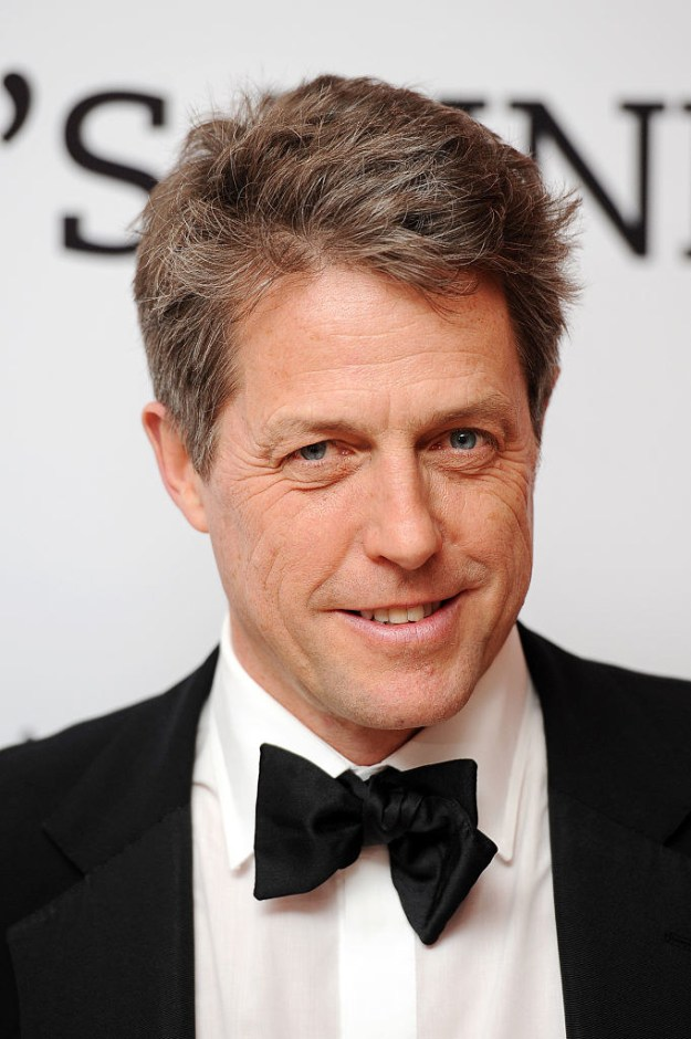 Hugh Grant is known for his dashing looks and his classic rom-coms, like Love Actually and Notting Hill.