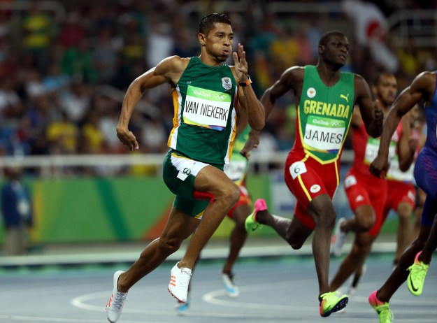 If you watched the Rio Olympics during prime time last night — maybe tuning in to catch Usain Bolt do his thing — you probably also saw this guy, Wayde van Niekerk, win gold in the men's 400-meter race.