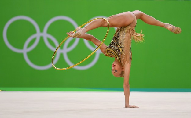 But it's basically the closest thing in the Olympics to Cirque du Soleil, and it's pretty damn mesmerizing to watch.