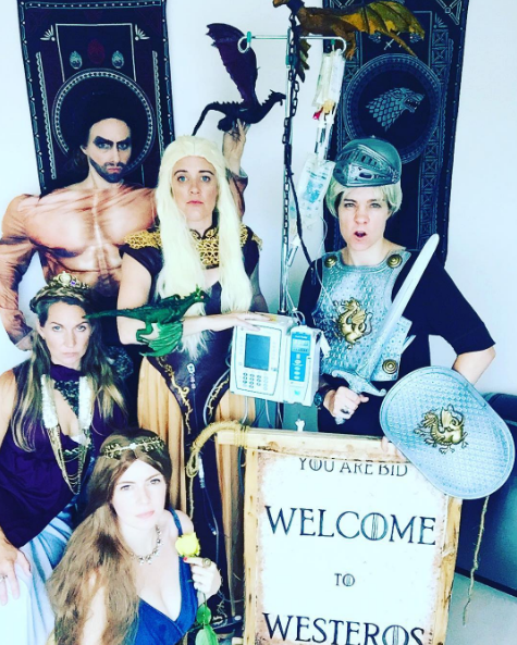 Since then, she and her friends have dressed up like Game of Thrones characters.