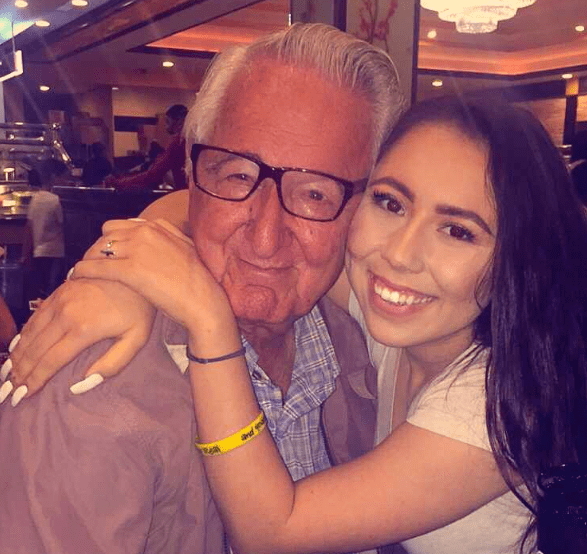 Meet Melanie Salazar, 18, and her 82-year-old grandfather, Rene Neira. They aren't just family — they're classmates, too.