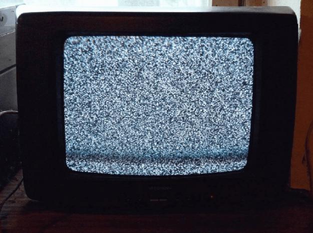Nur drei Programme im Fernsehen haben.