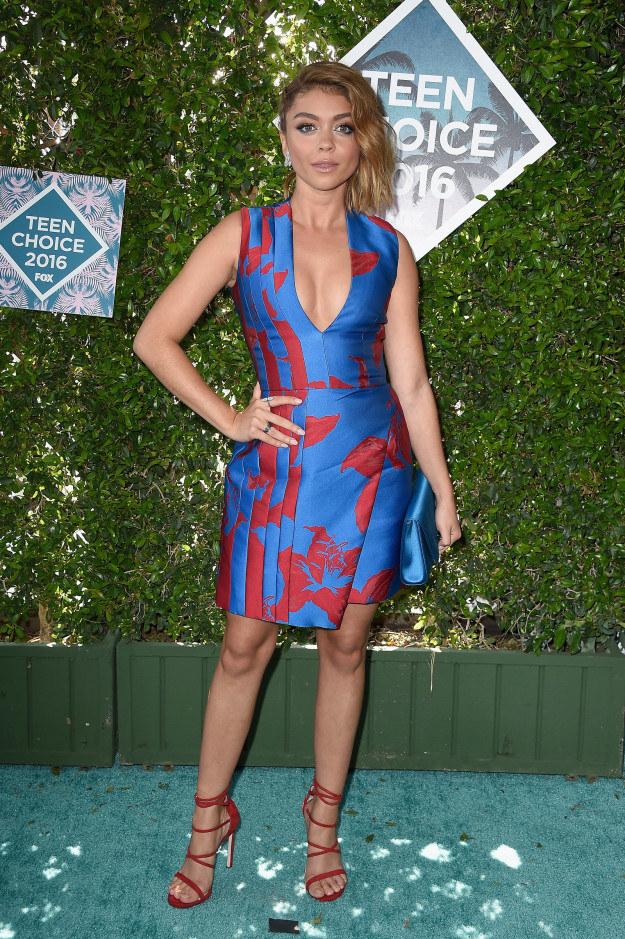 2. Sarah Hyland at the 2016 Teen Choice Awards