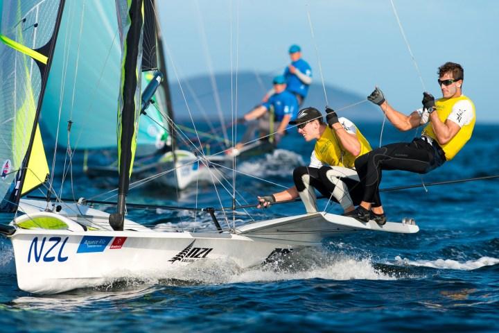 Meet Kiwi 49er sailors Peter Burling and Blair Tuke.