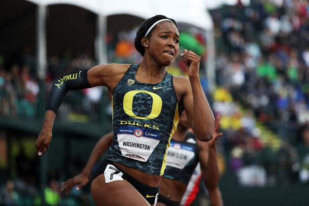 Ariana Washington, a 19-year-old runner from Long Beach, California, really wasn't expecting to make the Olympic team this year. So, when she was chosen just a few weeks ago, her mother, Euna Washington, was overjoyed.