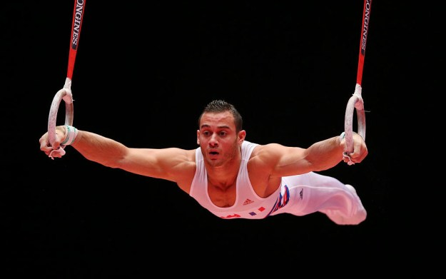 This is Samir Ait Said, a member of the French Olympic gymnastics team.