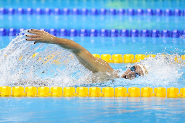 During competition on Saturday, Hosszu finished first in her heat for the Women's 400 meter individual medley, coming tantalizingly close to setting a new world record.