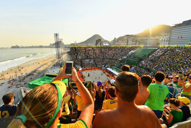 The venues are typically in the most beautiful locations in the world. The 2016 Rio Olympics are the first games to host beach volleyball at a natural beach since Sydney in 2000.