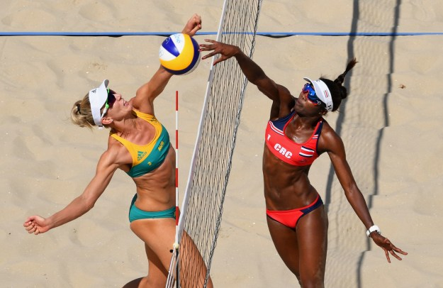 Beach volleyball, which is currently being played at the 2016 Summer Olympics in Rio, is an extremely intense, fast-paced sport.
