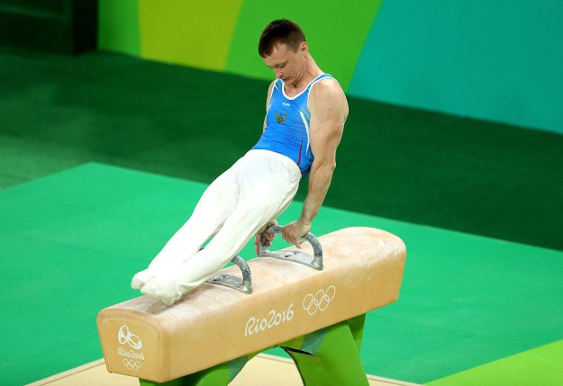 If you've been watching men's gymnastics, you've probably noticed the competitors' uniforms, which look from afar like footed onesies.
