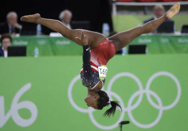 As fans have come to expect, she dominated with a high-flying, powerful routine.