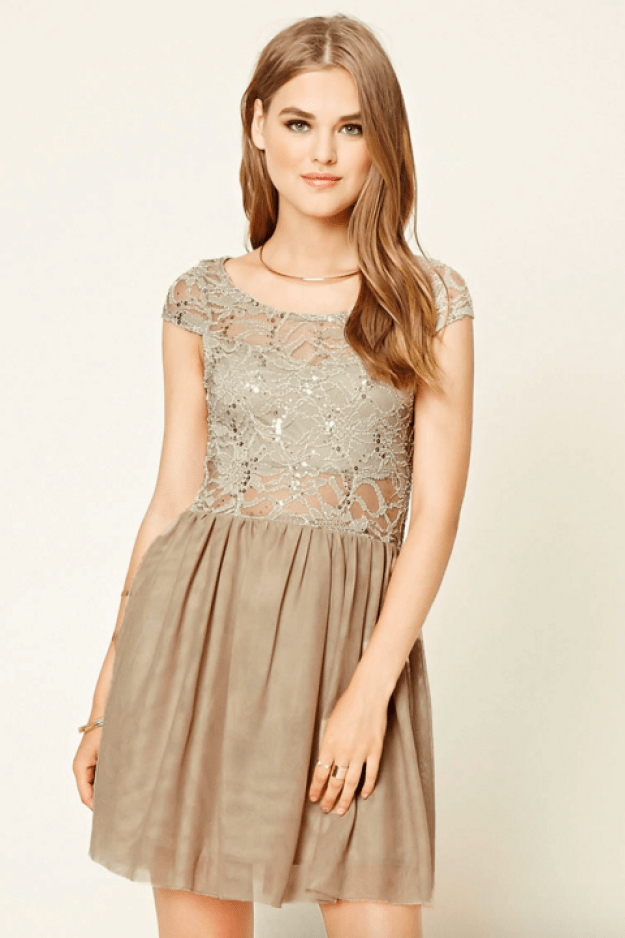 A tulle and sequin dress that looks like it belongs on Dance Moms.