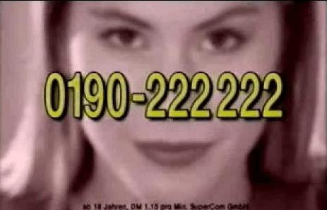 Nackte Haut haben wir nur nachts in der 0190er-Werbung gesehen.