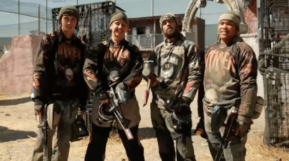 "Facing the regular people crew would be four professional paintballers who called themselves the ""LA Hit Men,"" which just... isn't intimidating at all."