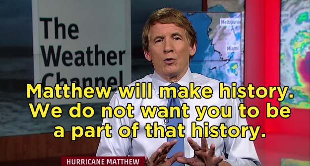 He concluded with this final message from The Weather Channel: