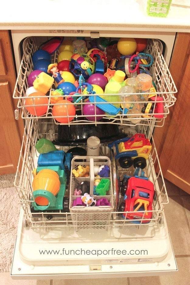 And you can clean other plastic toys in the dishwasher.