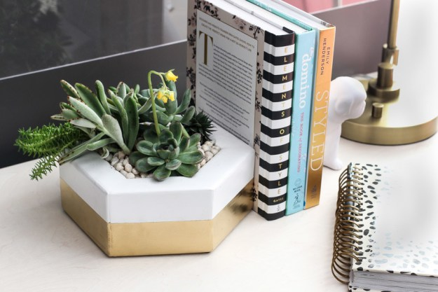 Or use the same mitering technique to make a wooden tabletop planter.