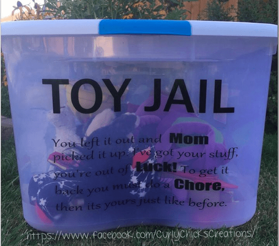 And kids — you'd better pick up your toys around the house, too.