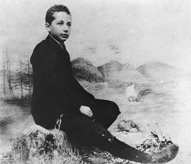 Albert Einstein as a 14 year old in 1893.