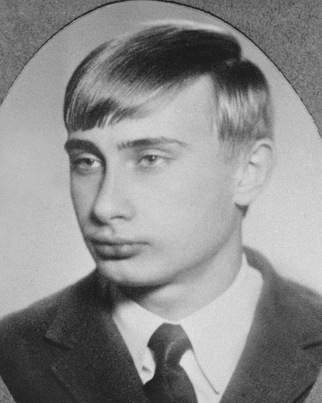 Vladimir Putin as an 18 year old in 1970.