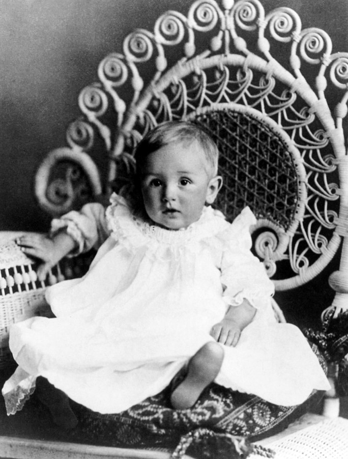 Walt Disney as a 1 year old in 1902.