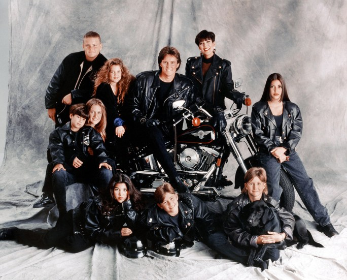 The entire Kardashian/Jenner family in 1993.