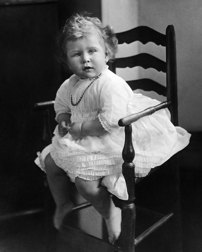 Queen Elizabeth II as a 2 year old in 1928.