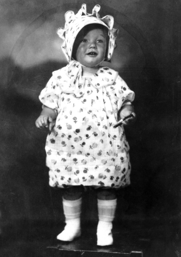 Marilyn Monroe (then Norma Jean Mortenson) as a 2 year old in 1928.