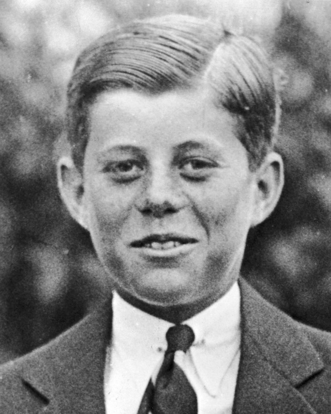 John F. Kennedy as a 10 year old in 1927.