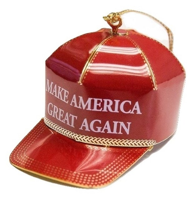 "If you're in the market for a ""collectible"" Christmas ornament in the shape of one of President-elect Donald Trump's campaign hats, you're in luck!"