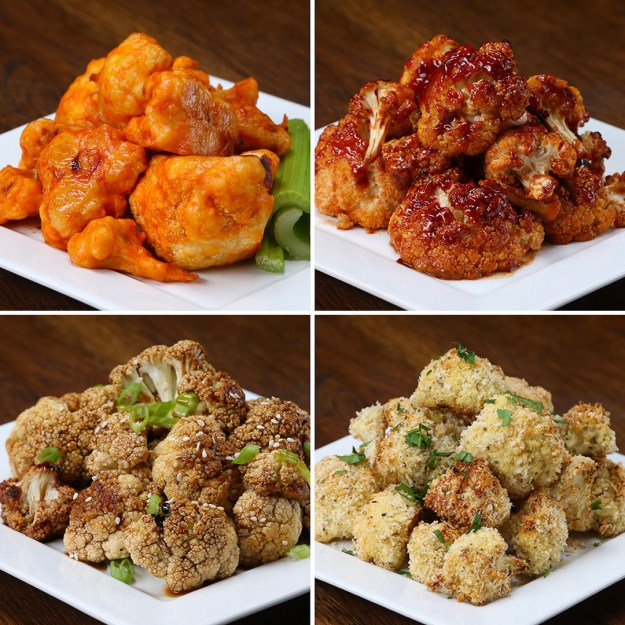 Cauliflower Bites 4 Ways