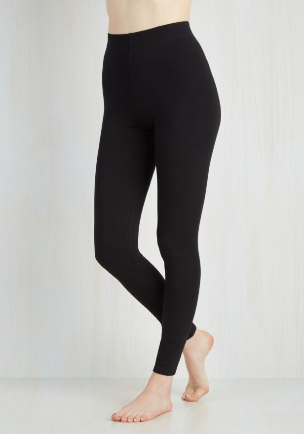 Super high-waisted leggings that are not see through. At all.