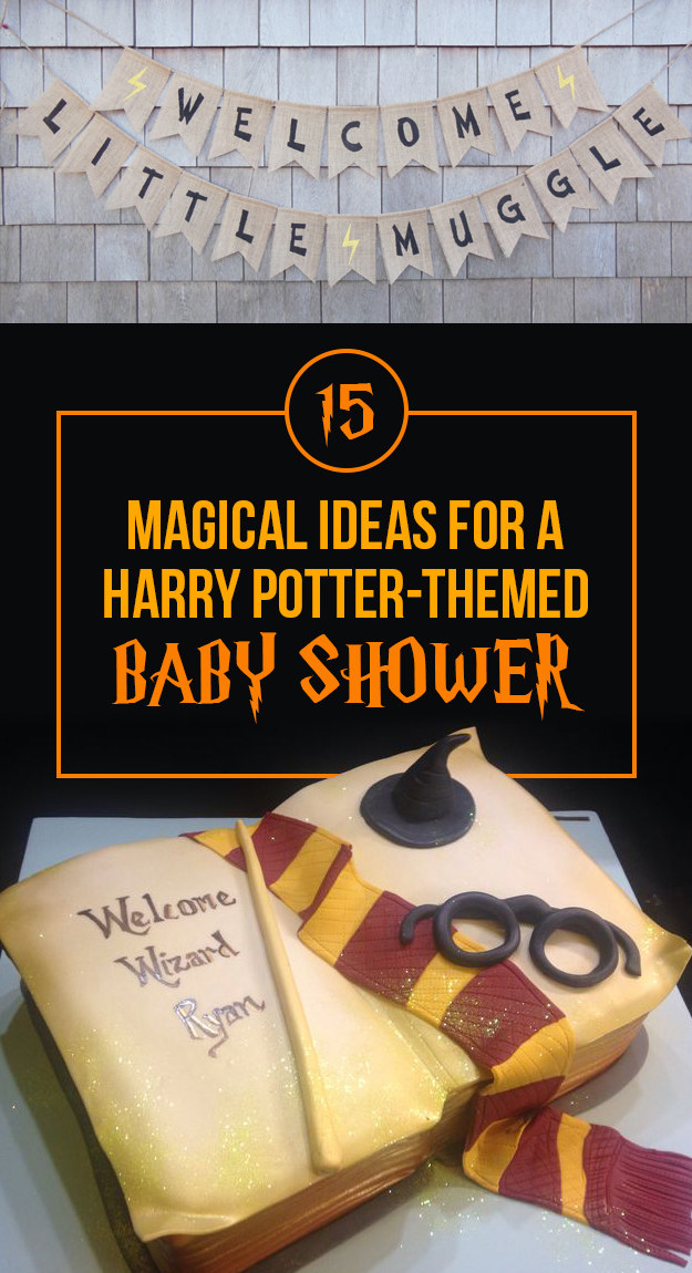 11 Simple and Neutral Baby Shower Theme Ideas: Harry Potter Theme