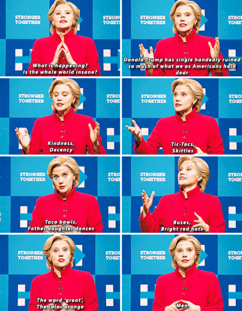 When Kate McKinnon made this heartfelt speech as Hillary.